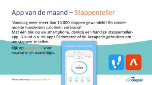 RijncoepelAppVanDeMaand-Stappenteller