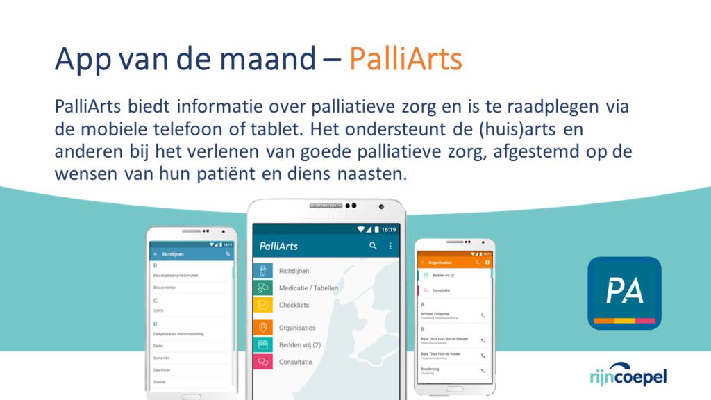 App van de maand – PalliArts