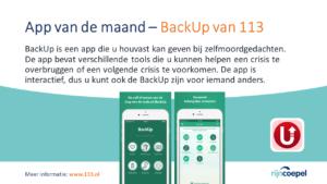 App van de Maand - BackUp van 113-2
